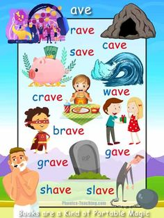 ave Word List - FREE PRINTABLE- Perfect for individual learning plans, guided reading reference charts and phonics revision. Phonics Flashcards, Vowel Worksheets, School Worksheets, Learning English For Kids, Learning Games For Kids, Teaching English, English Book, Learn English, Guided Reading