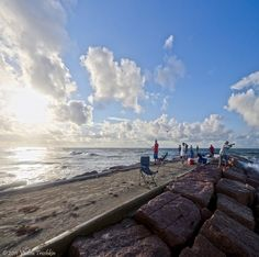Fishing enthusiasts can fish free of charge in Galveston off the rock groins or breakwaters along the Seawall for Flounder, Speckled Trout, Sheepshead, Sand Trout, Bull Reds and Gafftop Sail.