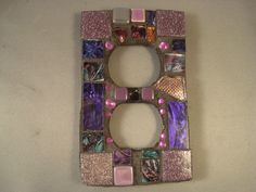 MOSAIC ELECTRICAL OUTLET Cover   Purple  by victoriacharlotte, $16.00