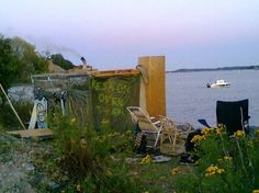"""Sompasauna. 2011, Helsinki. Secret DIY Tent-Sauna on """"no-man's land"""" anybody wellcome, bring yr own logs to heat it up. Sea-swimming possibility.  Destroyed by vandals end of summer 2012. Will it be rebuild..? #sauna"""