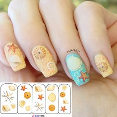 Starfish nail artach theme nails lets just put my 2 i find an excellent product on bornprettystore 1 sheet colorful sea fish pattern nail fish nail artocean prinsesfo Choice Image