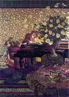 Figures in an Interior: Music (Edouard Vuillard - 1896)