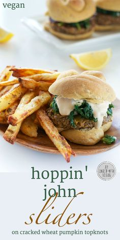 Plant-based Hoppin' John Sliders from An Unrefined Vegan. Happy New Year!