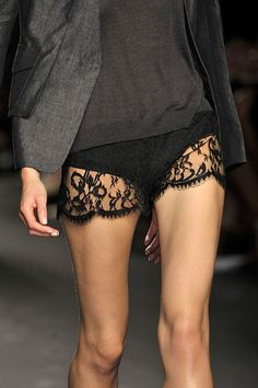black lace shorts-MAISON Kiss Kiss LONDOn