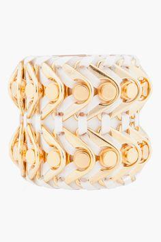 BALMAIN //  LARGE WHITE ARIADNA CUFF I'm in love with all their cuffs!!!