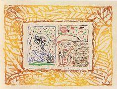 Galerie Lelong - Estampes - Pierre AlechinskyLe Layetier 1989 Gravure 51,5 x 68cm