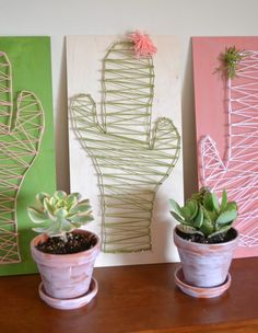 DIY Cactus String Art Craft