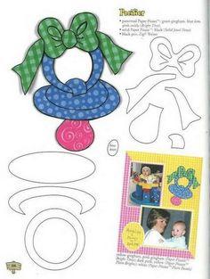 Pacifier - use a real ribbon on the top Applique Templates, Applique Patterns, Applique Designs, Paper Piecing Patterns, Felt Patterns, Disney Scrapbook, Baby Scrapbook, Foam Crafts, Paper Crafts