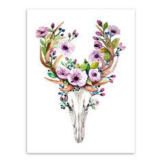 Aliexpress.com : Buy Vintage Retro Animal Deer Head Skull Feather Dream Catcher  Art Prints Posters Wall Picture Canvas Painting Living Room Decor from Reliable painting egg suppliers on -_-