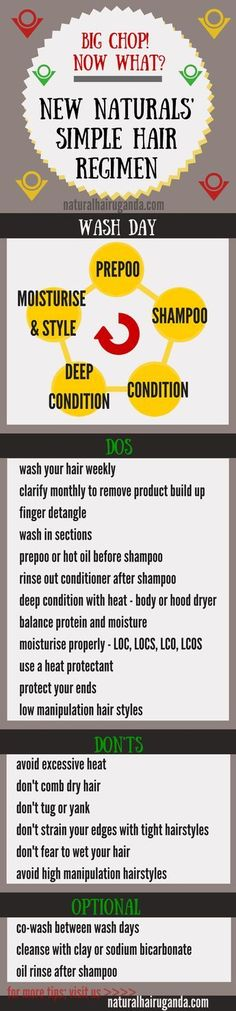 Simple natural hair regimen ☪ Pinterest: @RaelinaTerry