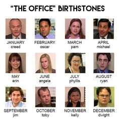 """The Office """"birthstones"""" -- I'm Michael! - The Office """"birthstones"""" — I'm Michael! """" The Office """"birt - Best Of The Office, The Office Show, The Office Jim, The Office Dwight, Best Tv Shows, Best Shows Ever, The Office Characters, Cartoon Characters, Office Jokes"""