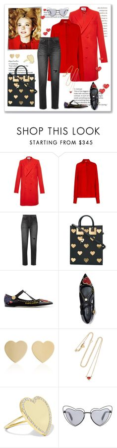 """""""First Love"""" by angelicallxx ❤ liked on Polyvore featuring Givenchy, Bouguessa, Yves Saint Laurent, Sophie Hulme, Dolce&Gabbana, Established, Jennifer Meyer Jewelry and valentines"""