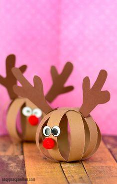 Paper Ball Reindeer Christmas Craft for Kids