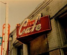 This was taken in the late 1980s of the Atomic Cafe's neon sign.  Located at 1st and Alameda in Los Angeles' Little Tokyo.  http://www.flickr.com/photos/21931556@N08/2119074819/#