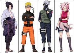 Naruto Shippuden Team 7- Sasuke, Naruto, Kakashi, Sakura