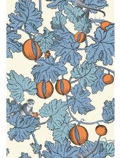 Cole & Son Frutto Proibito Wallpaper Roll - Hyacinth & Orange