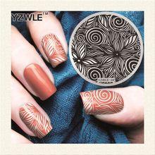 Yzwle 1 folha Stamping Nail Art placa imagem, 5.6 cm aço inoxidável Template polonês Manicure Stencil ferramentas ( YZWLE-08 )(China (Mainland))