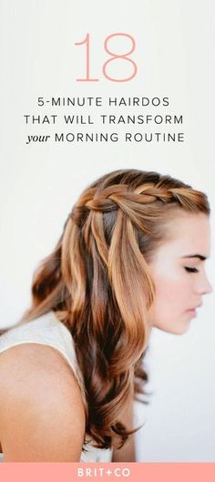 Go ahead and hit the snooze button. These quick and easy hairdos will get you out the door in just 5 minutes!