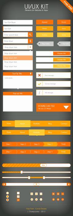 UI Flat design - orange