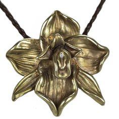 Orchid Yoni Pendant available at Yoniquecreations.com #yoni #yoniquecreations #maceydickersonarts #venus #bodypositive #bodypositivejewelry #vulva