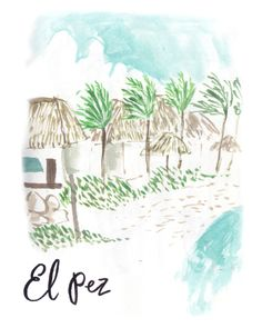 el pez tulum beach painting -Emma Block