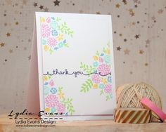 Loves Rubberstamps Sensational Sunday Inpirations - using Lawn Fawn Penelope's Blossoms