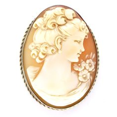 Antique 9ct Gold & Silver Victorian Fine Cameo Brooch / Pendant | Clarice Jewellery | Vintage Costume Jewellery