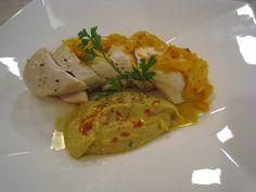 Pollo en escabeche con hummus