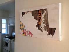 Maryland Themed Wall Art by MitchAllenCreations on Etsy, $250.00