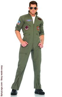 Top Gun Men's Flight Suit Adult Costume X-Large - $55.30 S/M and M/L - $54.25