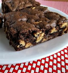Cake Mix Peanut Butter Chip Brownies