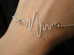 Heartbeat Charm and a Sterling Silver Chain by PeggysPassions, $20.00