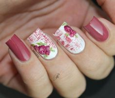 Vintage Roses Nail Designs Have you been trying to find new ideas concerning the way to do your manicure this time? Purple Nail Art, Rose Nail Art, Floral Nail Art, Gel Nail Art, Vintage Rose Nails, Vintage Nail Art, Rose Nail Design, Nail Art Instagram, Vintage Rosen
