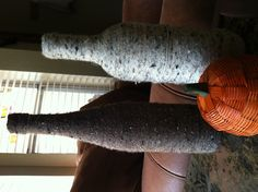 Yarn-wrapped bottles