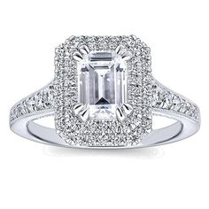 14k Gold 1 1/2ct TDW White Diamond Graduated Halo Engagement Ring (J-K, VS1-VS2) (White - Size 6.75), Women's