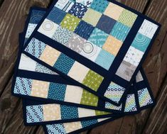 Free Quilt Pattern: Almost Plaid Placemats