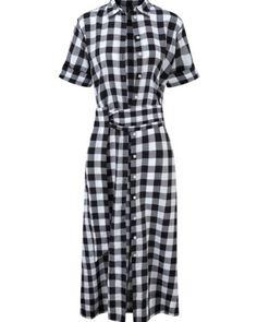 Lisa Marie Fernandez A-line Gingham Shirtdress