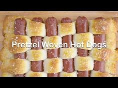 Pretzel Woven Hot Dogs Recipe - Tablespoon.com