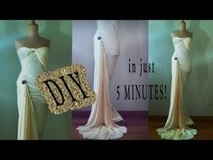 DIY Hollywood 40's dress in just 5 Minutes! No sew! Only fabrics...