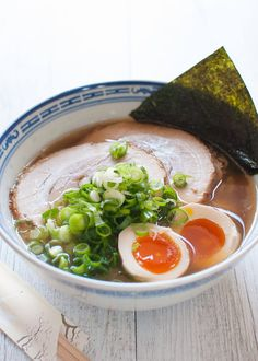 Easy Japanese Ramen Noodles recipe uses store bought soup and noodles, but the toppings are homemade. Fast to make and tastes like those at ramen shop.