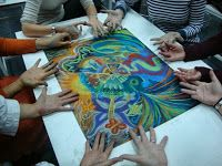 Del negro al color: Mandala en grupo