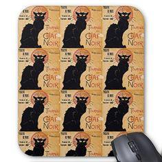 テオフィル・スタンラン、たくさんの『 黒猫 』のマウスパッド:フォトパッド(世界の名画シリーズ)(縦位置 - B)...…