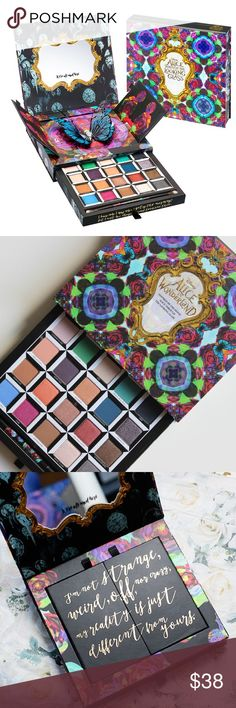 """Urban Decay 'Alice thru the Looking Glass' Palette 100% Authentic. In Box. Lightly used. Sanitized. Brush not included. Urban Decay """"Alice Through the Looking Glass' Eyeshadow Palette (Limited Edition) Inspired by Disney's fantasy-adventure film Alice Through the Looking Glass, this limited-edition, pop-up palette by Urban Decay is a trippy tribute to some of the main characters from the film. This palette is the sequel to Alice in Wonderland Book of Shadows, one of Urban Decay's most iconic…"""