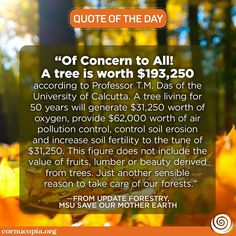 Nature is priceless! Join us @ www.cornucopia.org/.