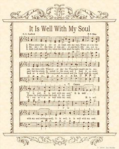 When peace like a river attendeth my way; when sorrows like sea billows roll . My favorite hymn in the song book Praise Songs, Worship Songs, Praise And Worship, Church Songs, Church Music, Gospel Music, Music Lyrics, Gospel Lyrics, Pot Pourri