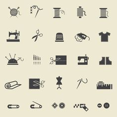 Check out Sewing icons by Microvector on Creative Market