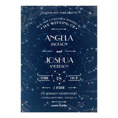 Celestial Wedding Invitation Custom Announcement