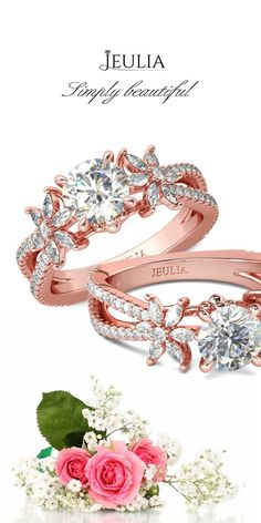 My world is blooming because of you #Engagement#Wedding#Rings