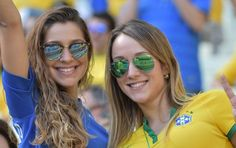 Hot Football Fans, Football Match, Neymar, Fifa World Cup, Woman Face, Yahoo Images, Photo Credit, Mirrored Sunglasses, Russia