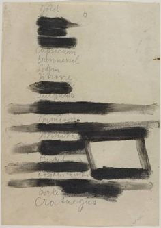 Joseph Beuys *    Therapeuticum    pencil, oil and fat on paper